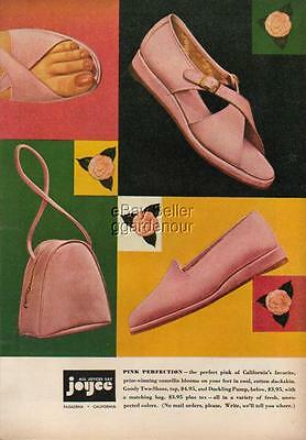 1947 Joyce Shoes Pasadena California CA Pink Perfection Goody Two Shoes Ad