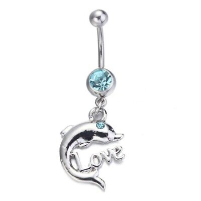 New Adult toys Cute Dolphin Navel Bar Jewelry