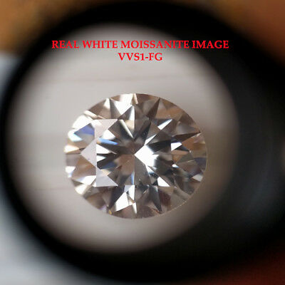 1.00ct VVS1-G Round Cut Loose Moissanite 6.5mm Round Colourless Moissanite 1pc
