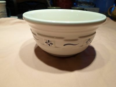 Longaberger Pottery Woven Traditions Small Blue Mixing Bowl 6 Round USA