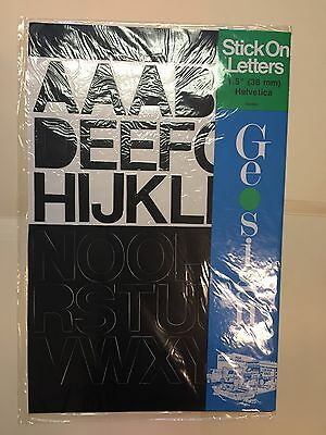 "Geosign Stick On Letters, Black, 1.5"" Helvetica"