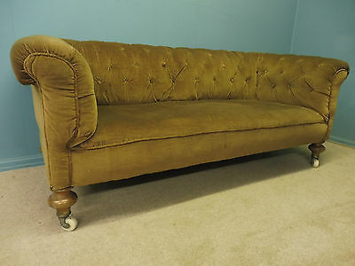 ANTIQUE VICTORIAN CHESTERFIELD SOFA  circa 1880