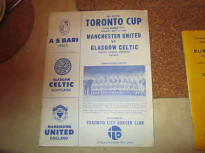 Collectable vintage Man Utd v Celtic 11th May 1970 programme - Toronto Cup