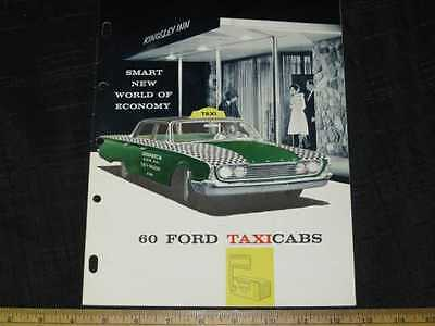 1960 Ford Fairlane Taxi Catalog Sales Brochure