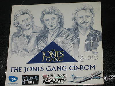 THE JONES GANG - CD-ROM - 3 Track PROMO CD ROM RARE! who small faces foreigner