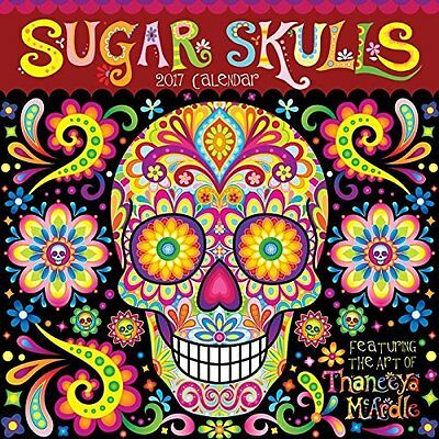 Sugar Skulls 2017 Wall Calendar - FREE Shipping USA Seller
