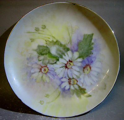 1990s hand painted decorative plate