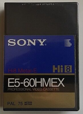 SONY E5-60 HMEX SUPER QUALITE Hi8 METAL E   PAL   NEW SEALED  e5 60hmex