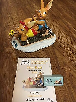PenDelfin Rabbit Collectors Limited Edition Figurine - The Raft Free Tracked Del