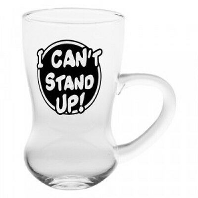 'I Can't Stand Up' Round Bottom Glass Beer Cup Birthday Party Gift Celebration
