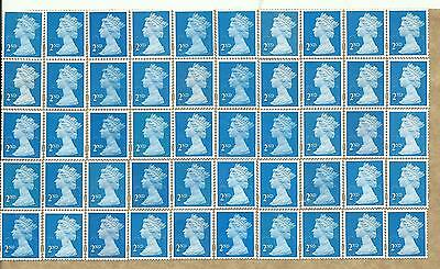 50 2nd Class Unfranked GB Stamps (Peelable)