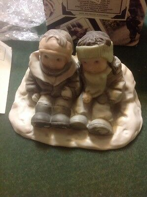 Kim Anderson 'Snow Where Else I'd Rather Be' Porcelain Figurine 284440