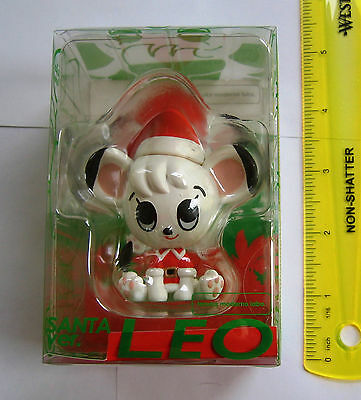 Cute Jungle Emperor Leo PVC figure in Santa hat Tezuka Kimba Moderno NEW