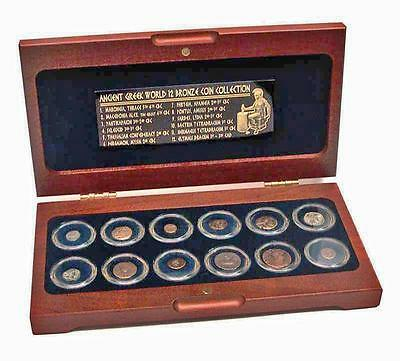 The Greek World: Box of 12 Bronze Coins from the Time of Ancient Greece w/ COA