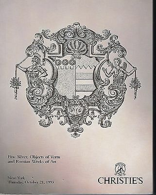Christie's NY, Silver, Vertu, Russian Works of Art Catalog 10/21/93