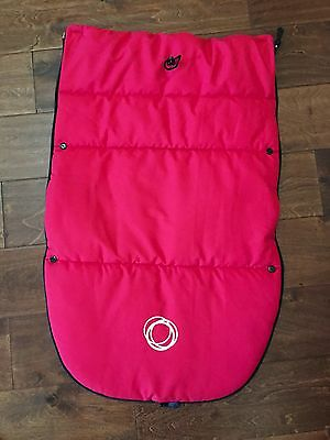 NEW Bugaboo Stroller TOP PIECE ONLY Footmuff RED Fits ALL UNIVERSAL Donkey Bee +