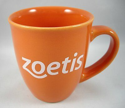 Zoetis Company Orange Coffee Mug Cup Advertising Made in USA