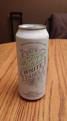 """Mountain Dew White Label """"Limited Edition Collectable Full Can"""""""