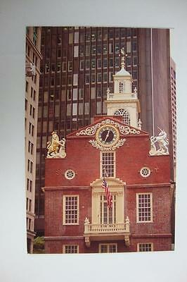 278) Boston Massachusetts The 1713 Old State House At State & Washington Streets