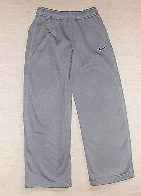 NIKE Therma-Fit Pants - Sz S/M BOYS -  Gray Polyester Logo Sports Athletic