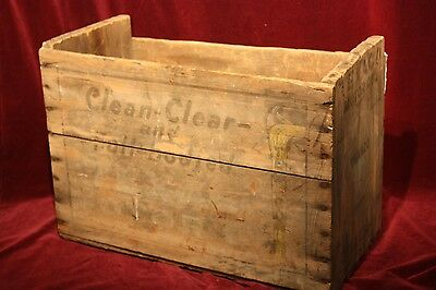 ** ANTIQUE TEXACO GAS OIL BOTTLE ADVERTISING CRATE OLD GAS STATION 1930's **