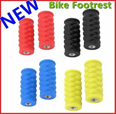 Bright Color Resin Footrest Foot Pegs Rest Pedal for Passengers Bike Pedal XH