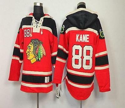 NHL ICE hockey clothing Fleece hoodies Jersey Chicago black hawk 88#