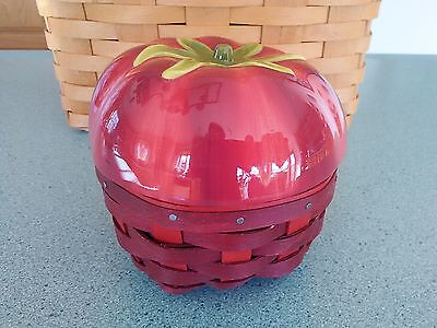 Longaberger Tomato Basket with pottery topper & protector NEW Ready to ship