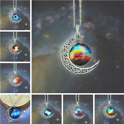 New Women Charm Chain Pendant Necklace Moon Bib Statement Jewelry Gift