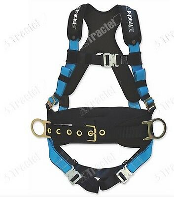 Tractel Small Belted Padded Fall Protection Construction Harness Buckle Legs
