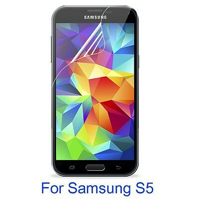 HD PET Soft Clear Screen Protector Film For Samsung Galaxy S5 High Quality