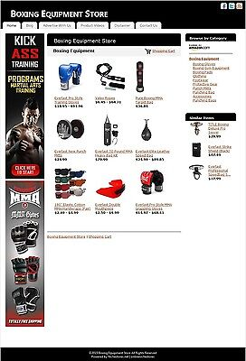 Boxing Equipment Store -Established Affiliate Website Business