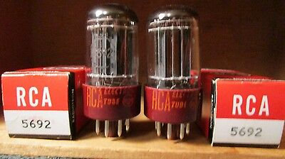 (2) Mint Matched NOS NIB 1960 RCA BP 5692 5-Rod  Audio Tubes