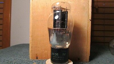 (1) Very Strong Sylvania Blackplate 2A3 Triode Audio Radio Tube