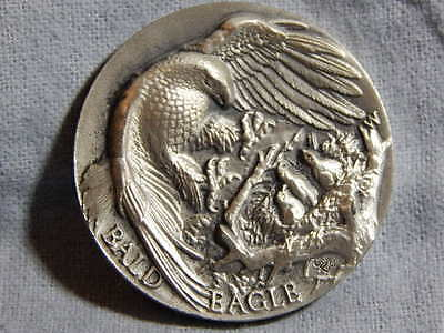 Bald Eagle Medal by: Longines Symphonette  .925 Silver Silver 40mm ....... RC906