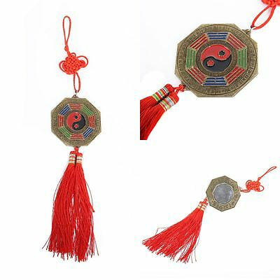 Chinese Feng Shui 7cm Bagua Mirror Good Luck Fortune Prayer Hanging Charm New