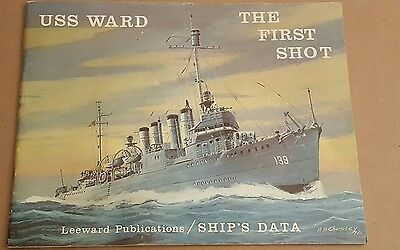 USS WARD (DD-139) The First Shot Ships Data Paperback By Leeward Publications