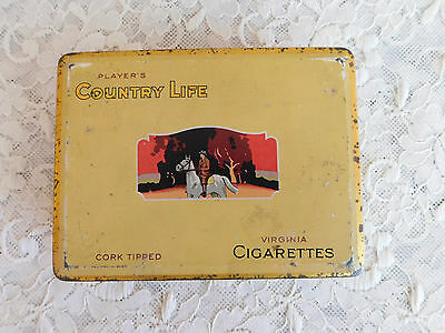 Vintage Large Player's Country Life Cigarette Tin