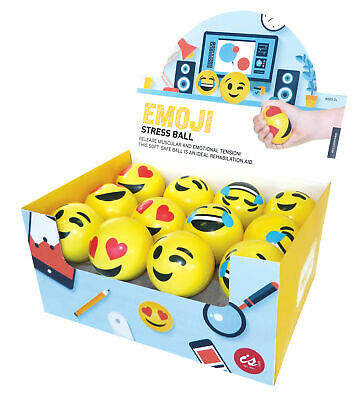 EMOJINAL STRESS BALL - Emoji Squeeze Tension Relief Relax Toy Play - 70mm **NEW*