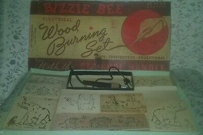 Vintage BIZZIE BEE ELECTRICA WOOD BURNING SET WITH BOX AND INSTRUCTIONS