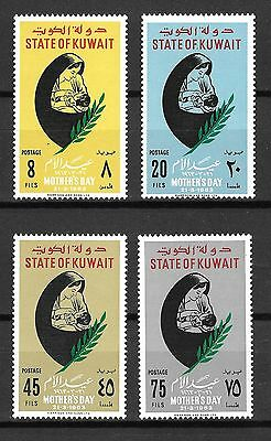 Kuwait Sc#189-92 MNH Mother & Child/Mothers Day 3-21-1963