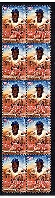 Jackie Robinson Baseball Legend Strip Of Mint Stamps 5