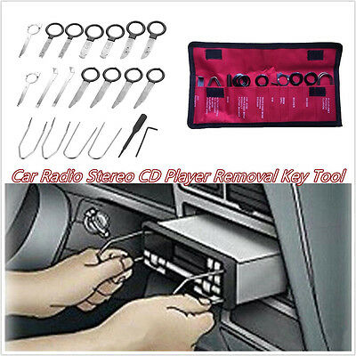 20 Pcs Pro Stainless Steel Car Autos Radio/Stereo CD Player Removal Handle Tools