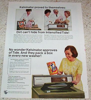 1966 vintage ad - TIDE Laundry soap Kelvinator Washer Lady PRINT Advertising