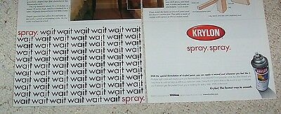 2000 advertising - Krylon Spray Paint -the fastest way to smooth- PRINT AD