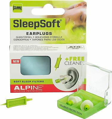 Alpine Sleep Soft Earplugs Comfortable Ear Plugs Reusable Sleeping Sleepsoft NEW