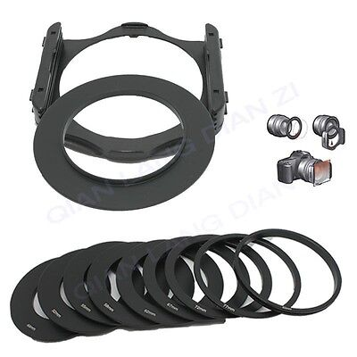 49 52 55 58 62 67 72 77 82mm Ring 9pc Ring Adapter+Filter Holder set for Cokin P