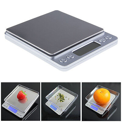 3kg/0.1g 500g/0.01g Stainless Digital LCD Kitchen Jewelry Electronic Scale Eager