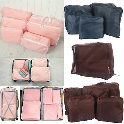 5 pcs Travel Luggage Organizer Packing Clothes Storage Bags Cube Waterproof New