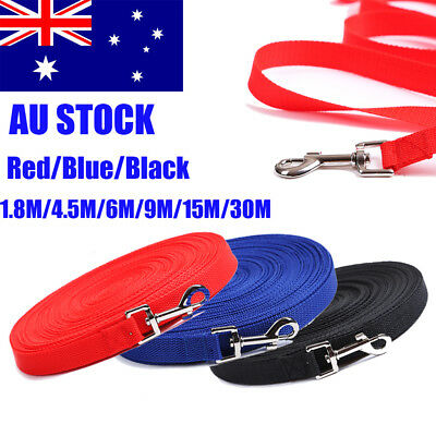 1.8/4.5/6/9/15/30Meter Long Dog Pet Puppy Training Obedience Recall Lead Leash